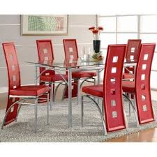 Coaster Dining Room Table Los Feliz Dining Room Set With Red Chairs Coaster Furniture