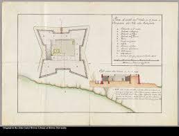 plano del castillo de sn carlos en el puerto de pampatar de la