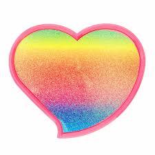 rainbow glitter heart shaped makeup set claire u0027s