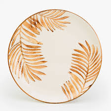 serving dish with palm tree motif serving dishes
