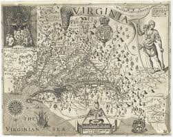 Map Of Virginia by Early Settlers Charts And Maps