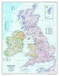 national geographic british isles map 1979 maps com