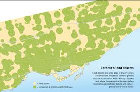 Canada Cities Map by Food Deserts Canadian Environmental Health Atlas