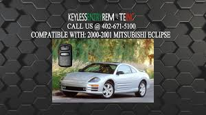 how to replace mitsubishi eclipse key fob battery 2000 2001 youtube