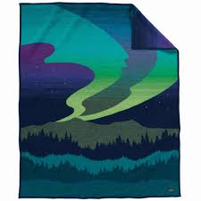pendleton northern lights wool blanket made in oregon