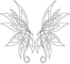 corner tattoos celtic butterfly designs for