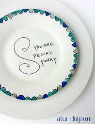 you are special today plate birthday plates must make or buy one to start a new tradition in
