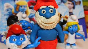 easy papa smurf play doh u0026 smurf 2 toys