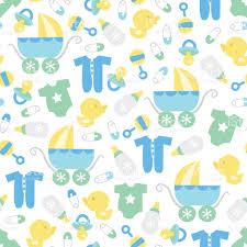 retro baby boy seamless pattern background stock vector art