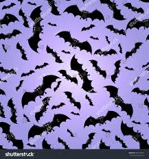 seamless pattern bats background halloween vector stock vector