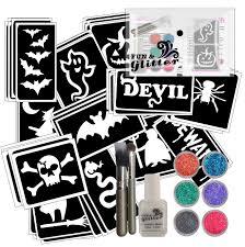 halloween glitter tattoo party pack fun u0026 glitter