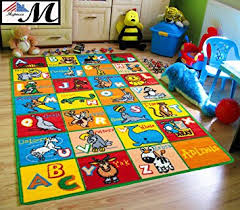 Area Rug For Kids Room by Amazon Com Kids Rug Abc Animals Area Rug 5 U0027 X 7 U0027 Children Area