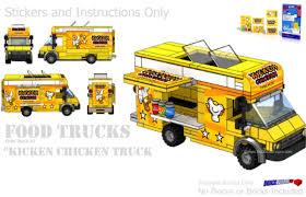 truck instructions kicken chicken food truck instructions and sticker pack