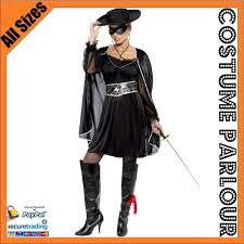 zorro woman halloween costume womens zorro musketeer bandit mexican crusader ladies fancy dress