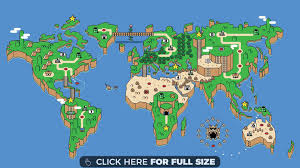 World Map Wallpaper by Super Mario World Global Map Wallpaper Desktop Wallpapers