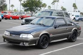 mustang pony wheels ford mustang 5 0 foxbody two tone gt with black pony wheel flickr
