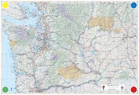 Map Of State Of Washington by Large Detailed Physical And Road Map Of Washington Washington