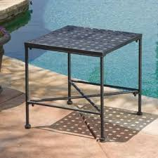 outdoor metal end tables outdoor coffee side tables for less overstock com