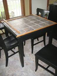 tile top dining room tables tile top table makeover tile top tables southern and woods