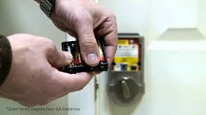 change batteries on your automatic door lock youtube