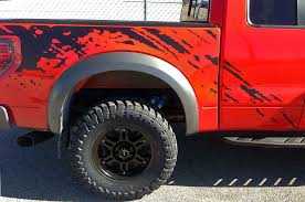 150 svt raptor fender bed splash mud predator vinyl graphics