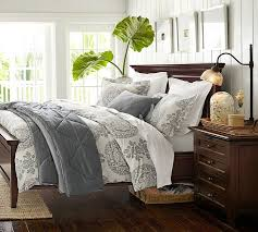 How To Make A Bed With A Duvet Lucianna Medallion Duvet Cover U0026 Sham Pottery Barn