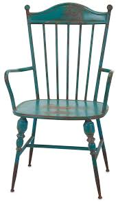 Teal Colored Chairs by Rustic Teal Blue Metal Farmhouse Industrial Modern Arm Chairs