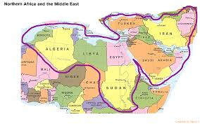 World Map Of Middle East by Lesson 10 Oil And Conflict In The Middle East Geographical