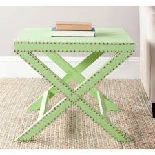 Light Green Stool Safavieh Adele Green End Table Fox4511d The Home Depot