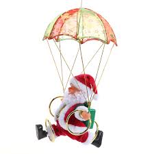 aliexpress com buy electric skydiving santa claus doll christmas