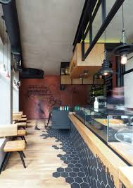 Best 10 Black Hexagon Tile by Hexagon Tiles Transition Into Wood Flooring Inside This Cafe In