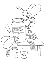 honey bee coloring pages postare biz