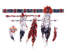 feather designs for tattoos cool bonbaden indian armband