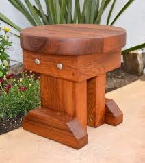 Round Redwood Picnic Table by 12 Inch Small Round Wood Side Table Redwood Side Tables