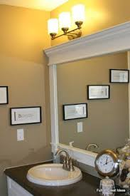 diy bathroom mirror frame ideas best 25 frame bathroom mirrors ideas on framed