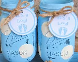 Baby Boy Shower Centerpiece by Baby Boy Shower Mason Jar Centerpieces Blue And White Polka