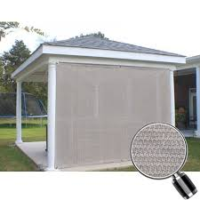 Awning Gazebo Alion Home Smoke Grey Sun Shade Privacy Panel With Grommets On 2