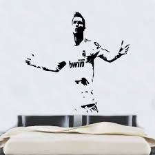 popular ronaldo wall sticker for kids rooms buy cheap ronaldo wall ronaldo football player wall stickers for kids rooms cr7 cool removable vinyl art mural for boys