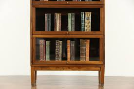 walnut 5 stack 1920 antique lawyer barrister bookcase signed