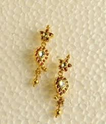 stylish gold earrings gold earrings in dist thrissur thrissur manufacturer