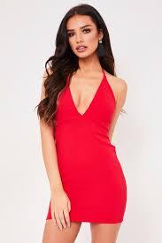 halter neck della halter neck mini dress
