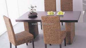 indoor wicker dining table rattan dining room sets table side chair wicker set contemporary for