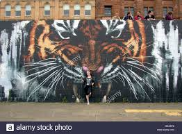 glasgow scotland uk 23rd july 2016 the tiger mural on the river glasgow scotland uk 23rd july 2016 the tiger mural on the river clyde