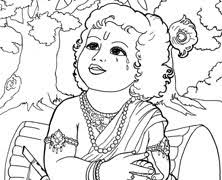 colouring book hare krishna kids