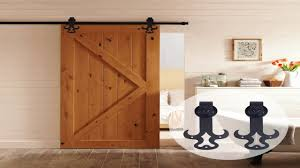 Sliding Bypass Barn Door Hardware by 10ft Bent Straight Rustic Black Double Sliding Barn Door Hardware