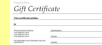 employee gift certificate template