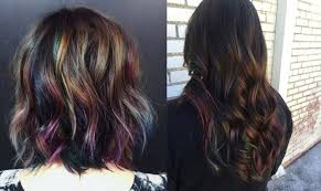 oil slick hair the fun color trend that actually works on people