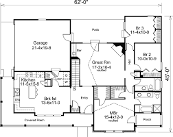ranch floor plan house plan 87811 at familyhomeplans com