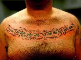 writing danielhuscroftcom chest text chest tattoos for