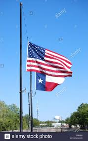 Us Flags At Half Mast New Technology In Power Transmission Ol2362912 Stock Photo